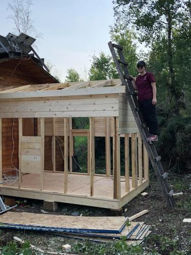 Building New Bathhouse at Dow Lake Outpost